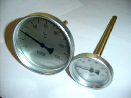 Bimetall hőmérők